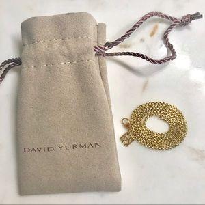 """David Yurman 18K Yellow Gold Box Chain 16"""""""